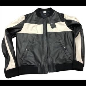 Hugo Boss Leather Jacket BRAND NEW WITH TAGS
